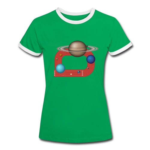 Orbit People - Frauen Kontrast-T-Shirt