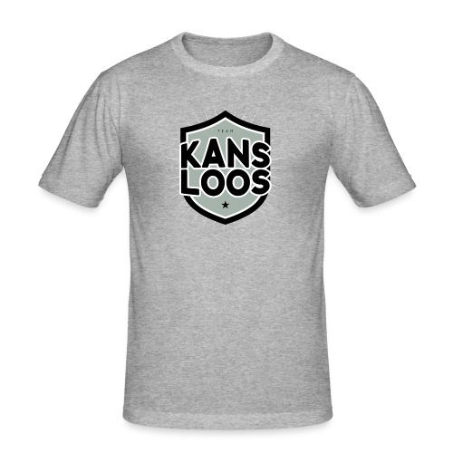 Team kansloos mannen slimfit - slim fit T-shirt
