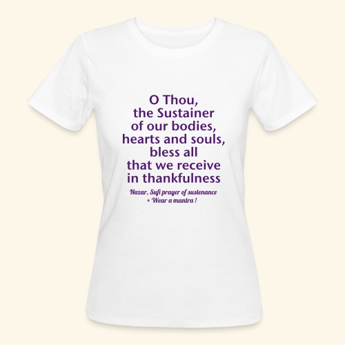 O THOU THE SUSTAINER eco woman tshirt - T-shirt ecologica da donna