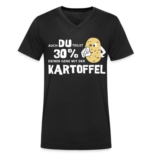 Kartoffelgene - Shirt - Männer Bio-T-Shirt mit V-Ausschnitt von Stanley & Stella