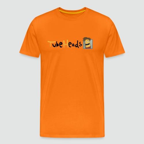 Edel-T-Shirt mit kleinem TubeHeads Logo für helle Shirts bis 5XL - Männer Premium T-Shirt