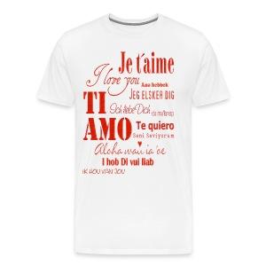 T-shirt Je t'aime - Maglietta Premium da uomo