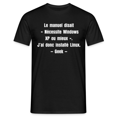 Windows ou Linux ? - T-shirt Homme