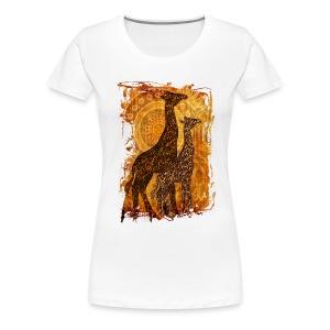 Giraffe arte - Maglietta Premium da donna