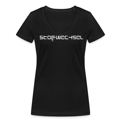 STOFFWECHSEL SHIRT GIRLS - Frauen Bio-T-Shirt mit V-Ausschnitt von Stanley & Stella