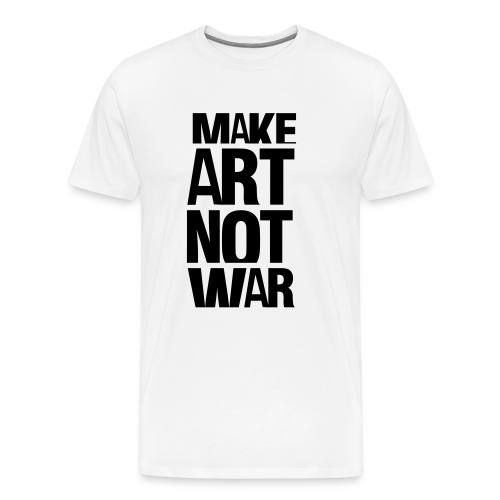 Make Art Not War - Maglietta Premium da uomo