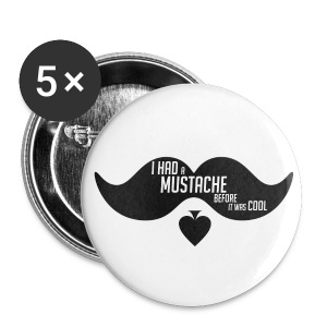 As2piK - Badge Moustache ! - Badge moyen 32 mm