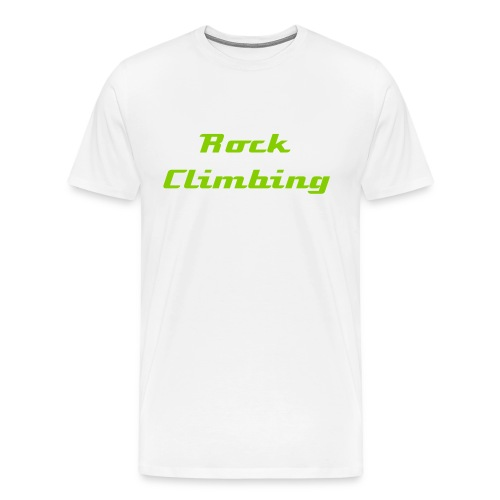 Basic Climbers T-shirts (Green writing) - Men's Premium T-Shirt