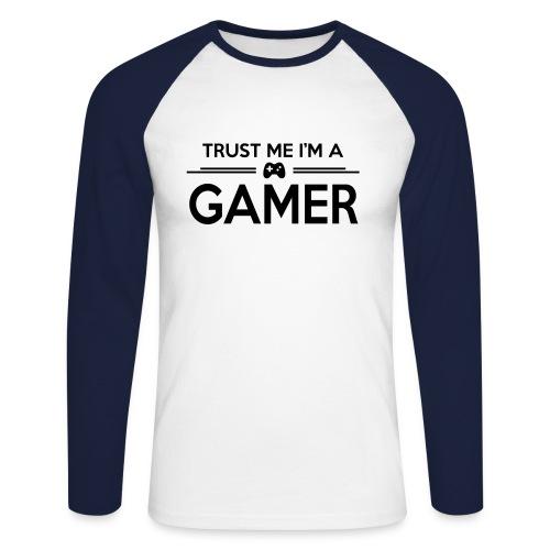 Gamer - Koszulka męska bejsbolowa z długim rękawem