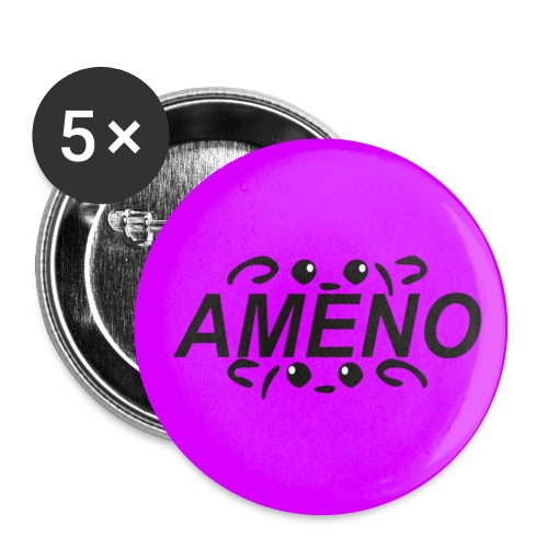 As2piK - Badge Ameno Rose - Badge moyen 32 mm