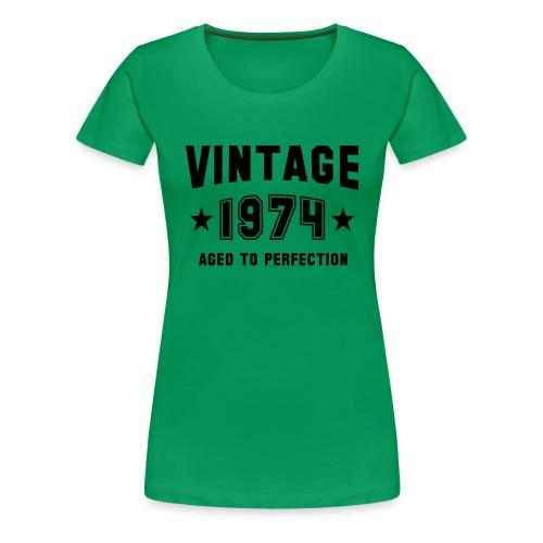Vintage 1974 - Koszulka damska Premium