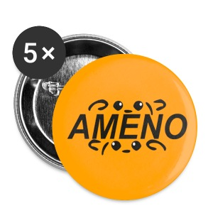 As2piK - Badge Ameno Orange - Badge moyen 32 mm