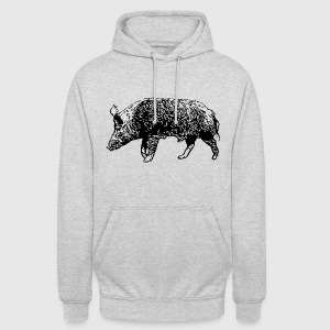 Wild Boar Sweat-shirts - Sweat-shirt à capuche unisexe
