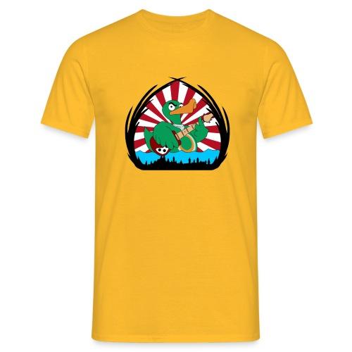 TP Shirt duck@war Logo: rot/weiß - Männer T-Shirt