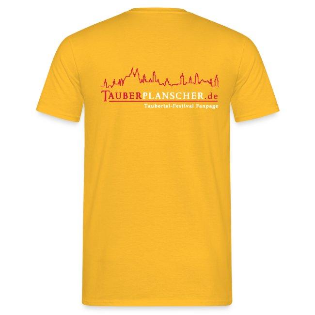 TP Shirt duck@war Logo: rot/weiß