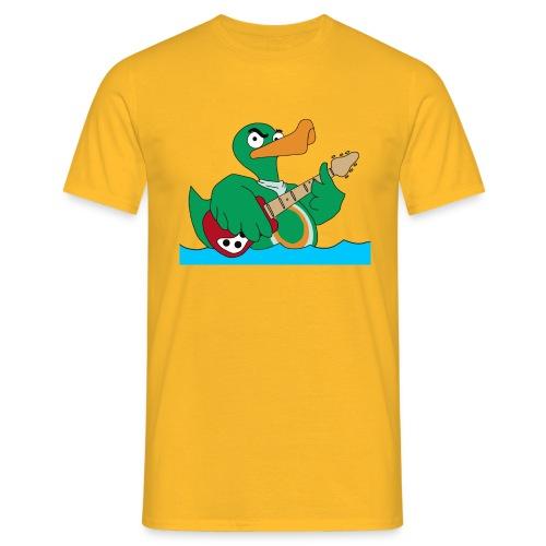 TP Shirt duck@rock Logo: rot/weiß - Männer T-Shirt