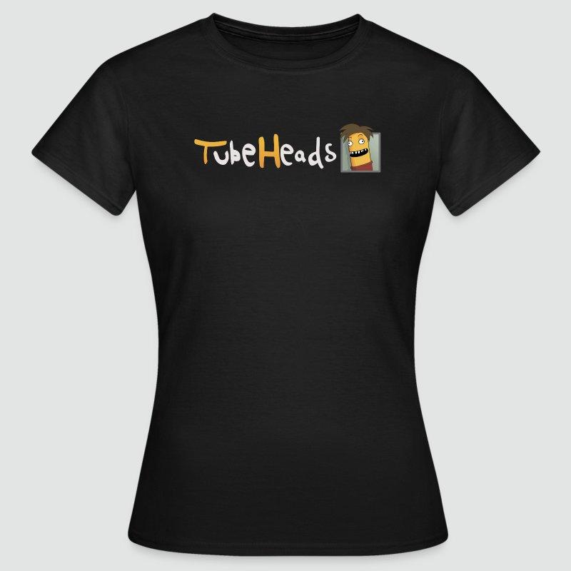 T-Shirt TubeHeads Logo klein für dunkle Shirts - Frauen T-Shirt
