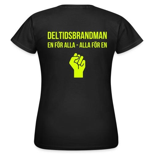 En för alla v2 - Neongult tryck (Dam) - T-shirt dam