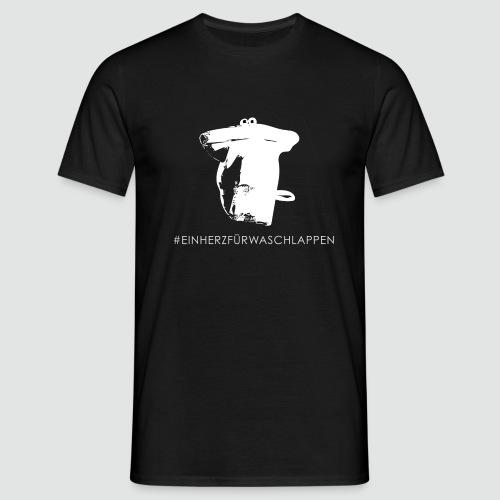 T-Shirt Ein Herz für Waschlappen - Männer T-Shirt