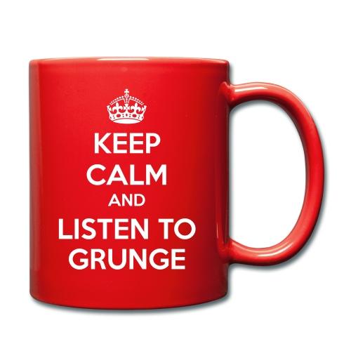 Keep Calm and Listen to Grunge Mug - Full Colour Mug