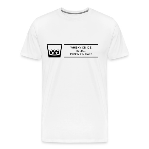 Whisky on Ice - Männer Premium T-Shirt