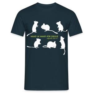 Hand in Hand für Degus - Schattenriss - Männer T-Shirt