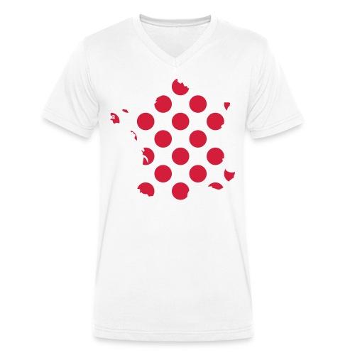 #TDF polkadot - Mannen bio T-shirt met V-hals van Stanley & Stella