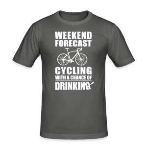 BBB Weekend Cycling (slimfit) - Men's Slim Fit T-Shirt