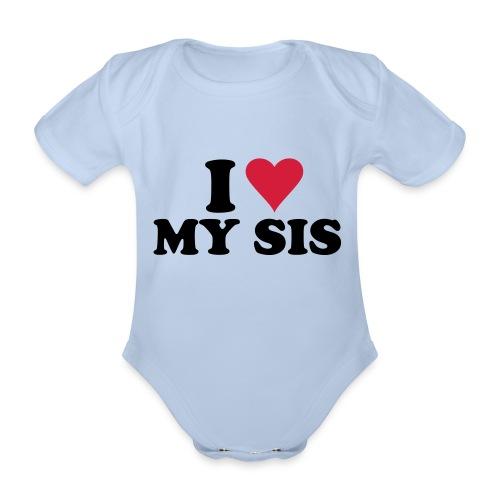 me and my sis. - Baby bio-rompertje met korte mouwen