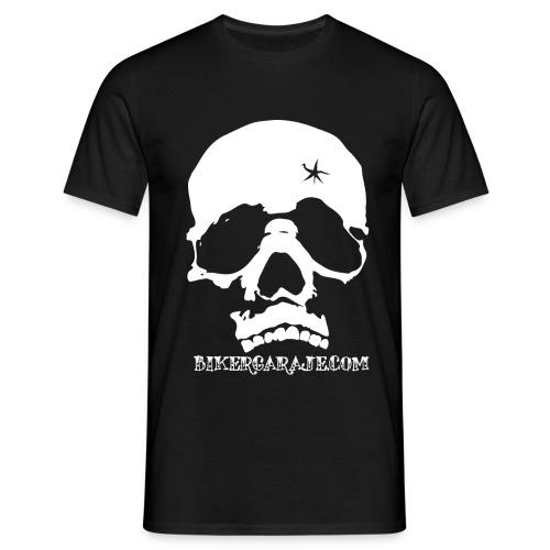 Camiseta calavera con balazo para hombre - Camiseta hombre