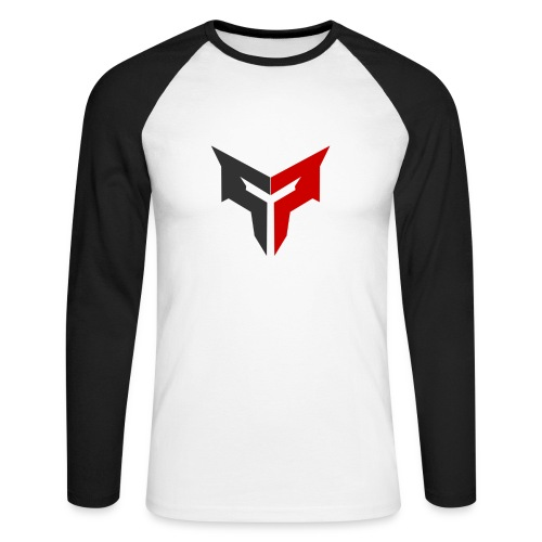 Mortal Baseballshirt (Red/Grey Logo)  - Men's Long Sleeve Baseball T-Shirt