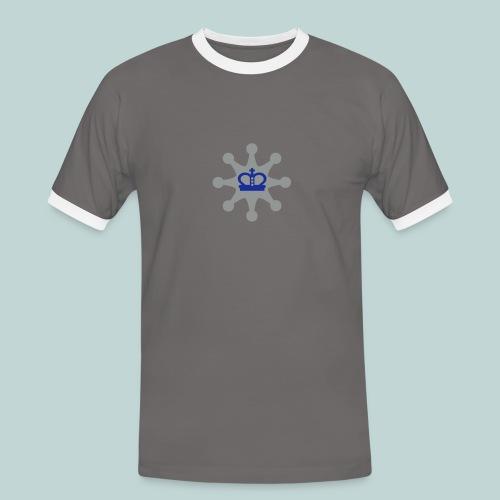Schachsheriff Sonar - Männer Kontrast-T-Shirt