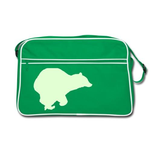Laufbär Nachtleuchtend - Retro Tasche