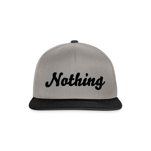 snapback Nothing - Casquette snapback