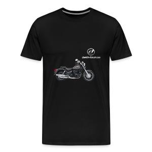 Daelim Daystar + Vogel Umriss auf TShirt (und Logo und Forum URL) und Vogel Umriss auf Rücken - Männer Premium T-Shirt