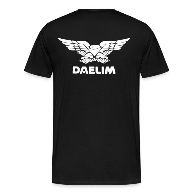 Daelim Otello + Vogel Fläche auf TShirt (und Logo und Forum URL) und Vogel Fläche auf Rücken