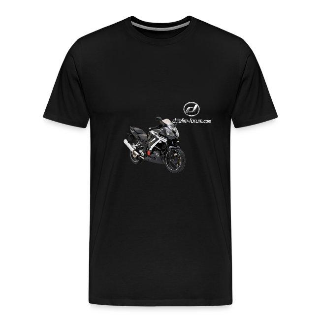 Daelim Roadwin Modell + Vogel Fläche auf TShirt (mit Logo und Forum-URL) und Vogel Fläche auf Rücken