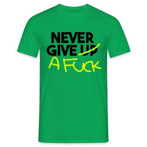 Never give a fuck - Koszulka męska