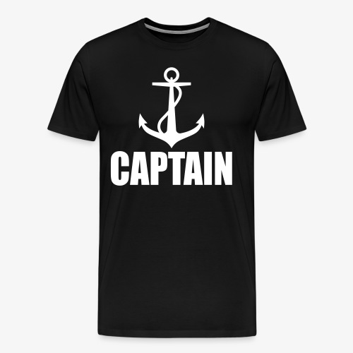 Captain Heimathafen Hamburg Steuermann 1c Männer Shirt  - Männer Premium T-Shirt