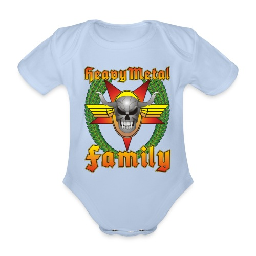 Heavy Metal Family Kids No.3 - Baby Bio-Kurzarm-Body