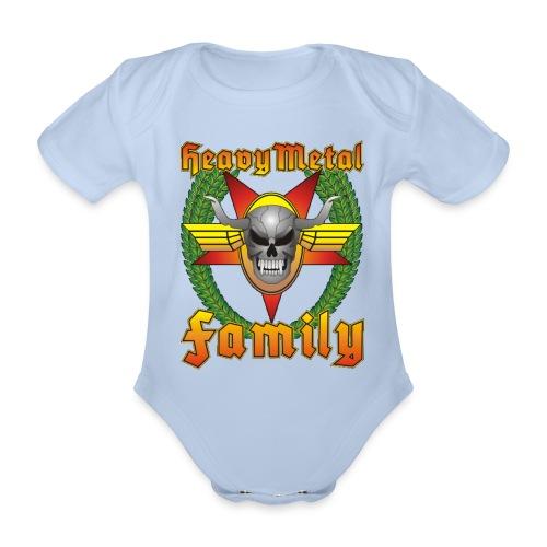 Heavy Metal Family Kids No.1 - Baby Bio-Kurzarm-Body