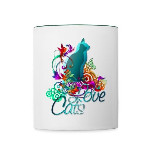 Love Cats - Tasse zweifarbig