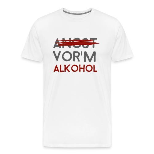 Angst vor'm Alkohol - Barth - Männer Premium T-Shirt