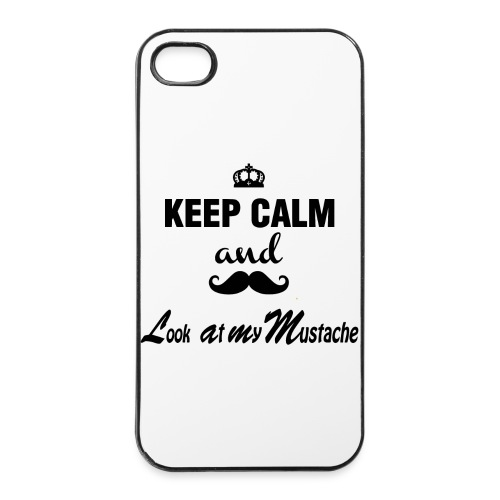 Keep Calm And Look At My Mustache - Iphone Case  - iPhone 4/4s Hard Case