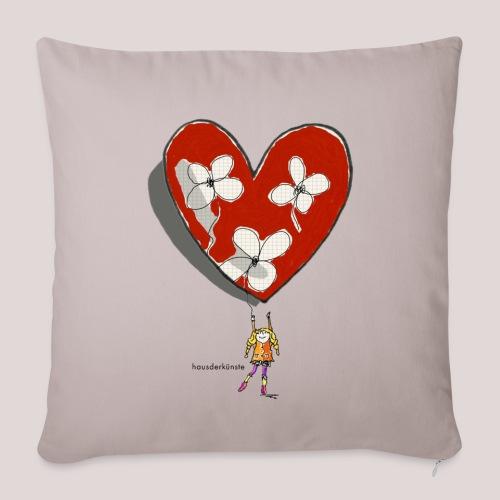 little girl with heart - Copricuscino per divano, 45 x 45 cm