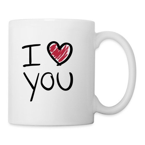 Mug i Love You - Mug blanc