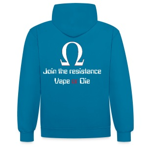 Sweat Rejoins la résistance (dos) - Sweat-shirt contraste