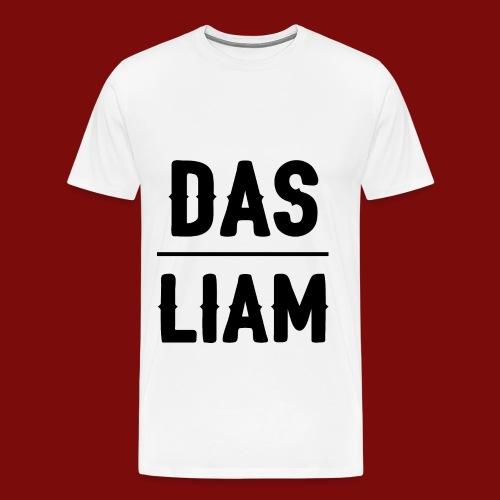 DasLiam T-Shirt Schwarz auf Weiß Männer - Männer Premium T-Shirt
