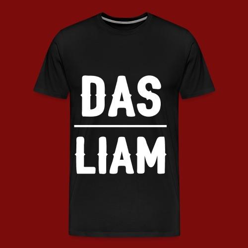 DasLiam T-Shirt Weiß auf Schwarz Männer - Männer Premium T-Shirt