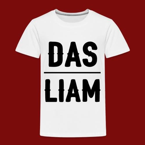DasLiam T-Shirt Schwarz auf Weiß Jungen - Kinder Premium T-Shirt